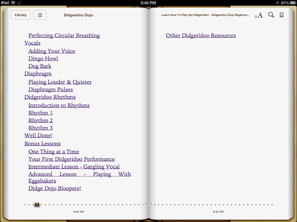 Didgeridoo Dojo Beginner Sessions Ebook screenshots