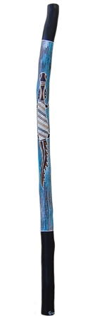 Beautiful Hand Painted Dark Blue Didgeridoo